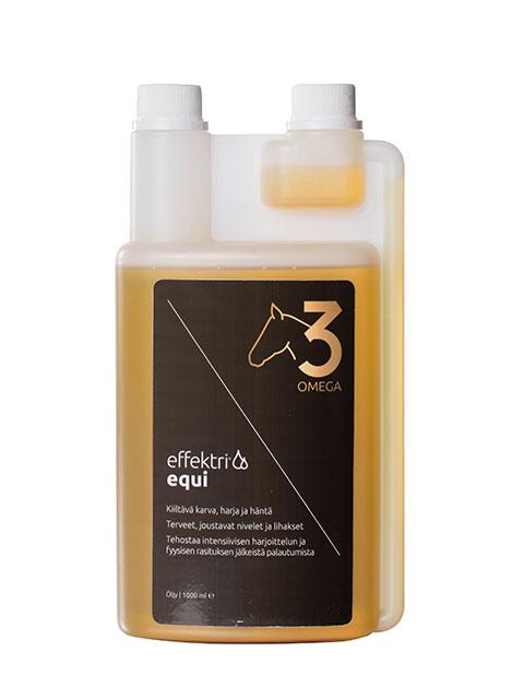 Effektri Equi rasvahappojen tasapainottamiseen hevosille
