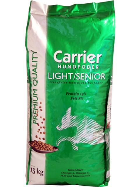 Koiranruoka carrier light/senior 15kg